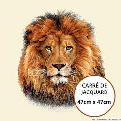 Jacquard lion - 47cm x 47cm