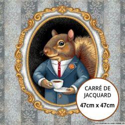 Jacquard écureuil chic - 47cm x 47cm