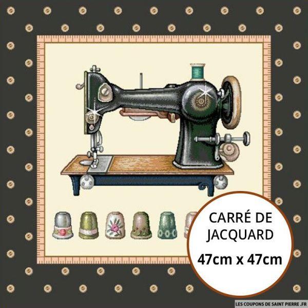 Jacquard machine à coudre - 47cm x 47cm