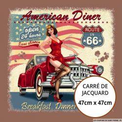 Jacquard American Diner - 47cm x 47cm