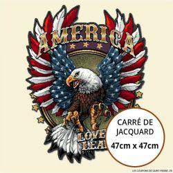 Jacquard aigle Americain - 47cm x 47cm