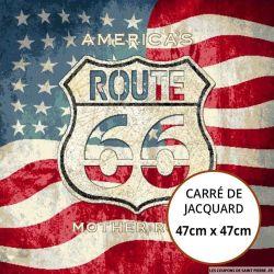 Jacquard route 66 - 47cm x 47cm