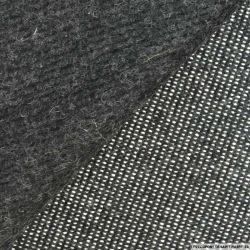 Laine mélangée pointillé fond gris anthracite double face