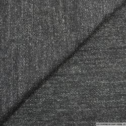 Laine mélangée fantaisie gris chiné