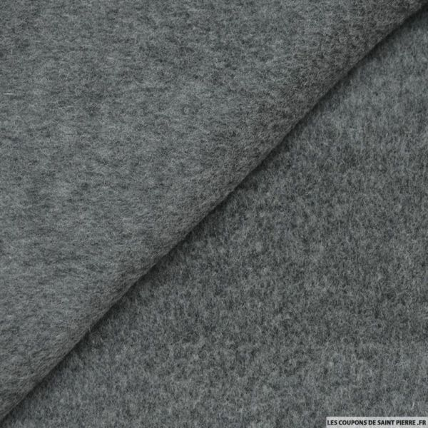 Velours de laine mélangée gris chiné