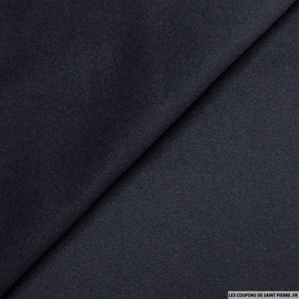 Velours de laine mélangée bleu nuit