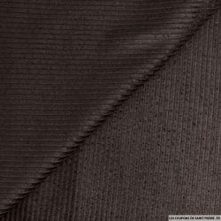 Velours côtelé coton marron foncé