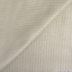 Velours côtelé coton beige brèche