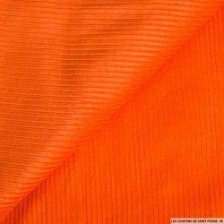 Velours côtelé coton orange