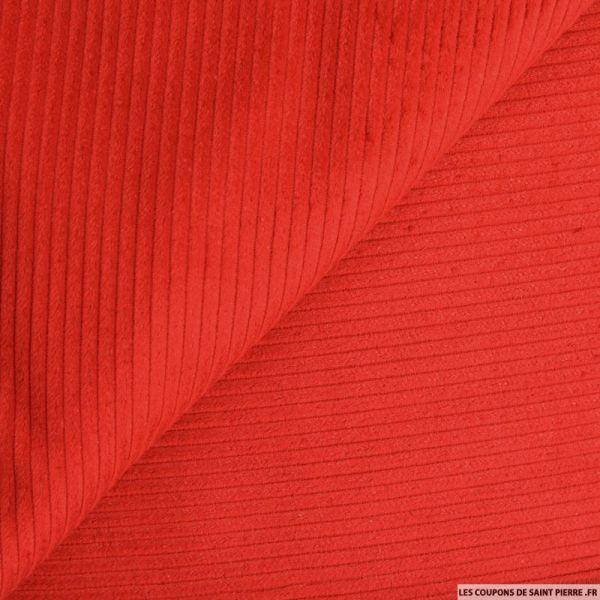 Velours côtelé coton rouge