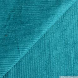 Velours côtelé coton vert canard