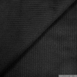 Velours côtelé coton noir