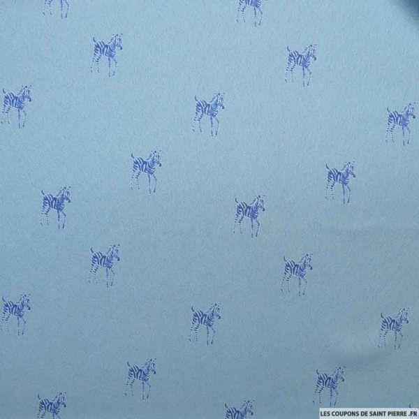 Crêpe polyester zebre fond ciel