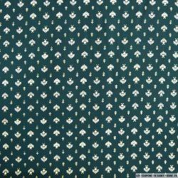 Microfibre imprimée emblème doré fond vert bouteille