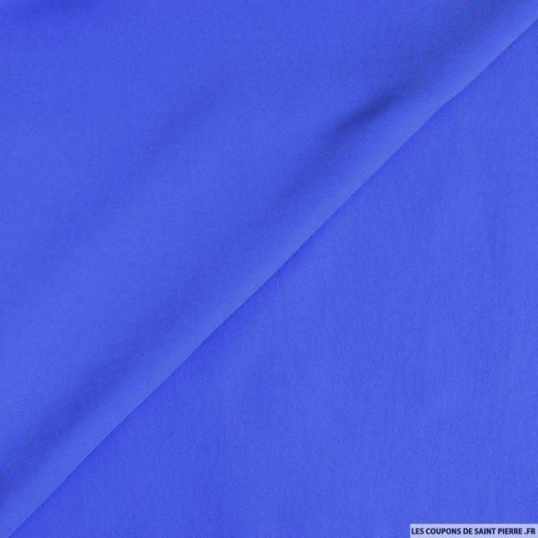 Crêpe polyester bleu roy