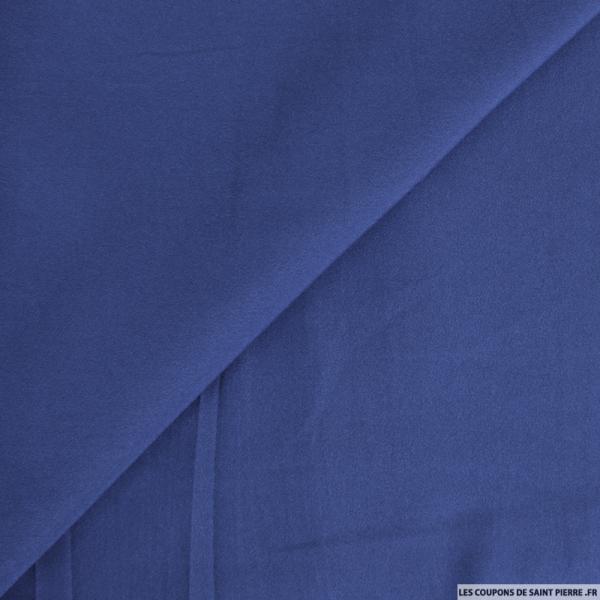 Crêpe polyester marine