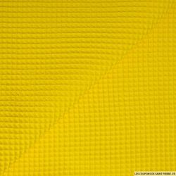 Coton nid d'abeille jaune