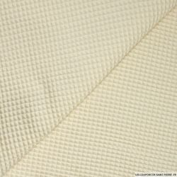 Coton nid d'abeille sable
