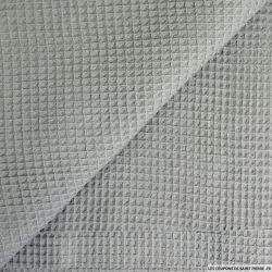Coton nid d'abeille gris