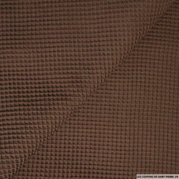 Coton nid d'abeille marron