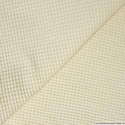 Coton nid d'abeille sable au mètre