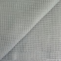 Coton nid d'abeille gris foncé au mètre