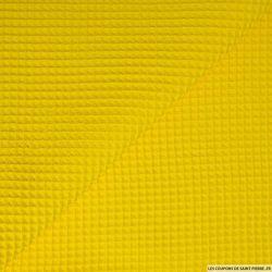 Coton nid d'abeille jaune au mètre
