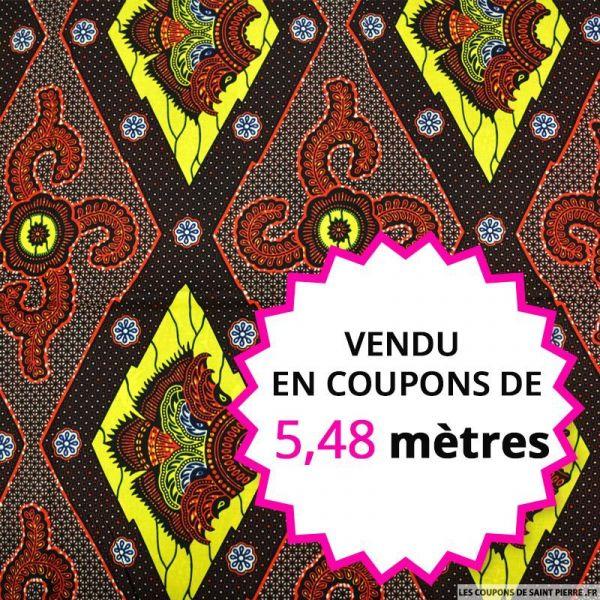 Wax africain bouclier asiatique, vendu en coupon de 5,48 mètres