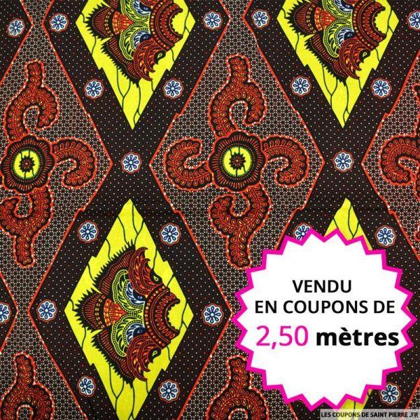 Wax africain bouclier asiatique, vendu en coupon de 2,50 mètres