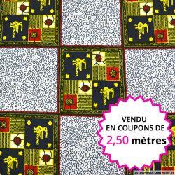 Wax africain emblème, vendu en coupon de 2,50 mètres