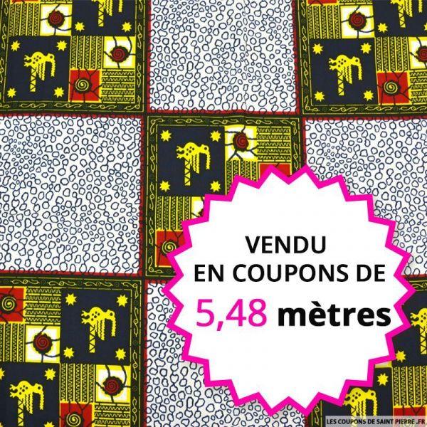 Wax africain emblème, vendu en coupon de 5,48 mètres