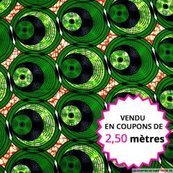 Wax africain pilea, vendu en coupon de 2,50 mètres
