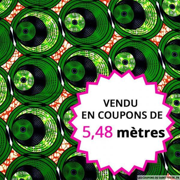 Wax africain pilea, vendu en coupon de 5,48 mètres