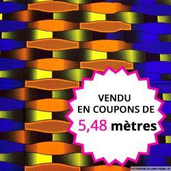Wax africain cravate indigo, vendu en coupon de 5,48 mètres
