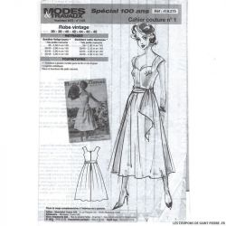 Patron Modes & Travaux Robe Vintage - Novembre 2019 n°1428