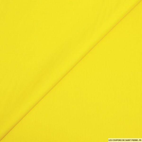 Popeline de coton jaune