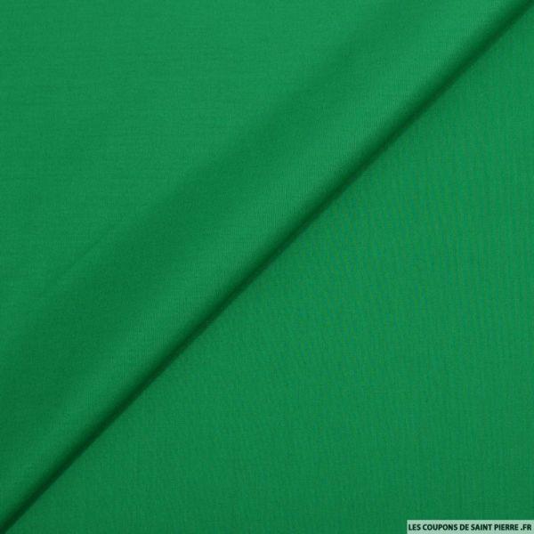 Popeline de coton vert gazon