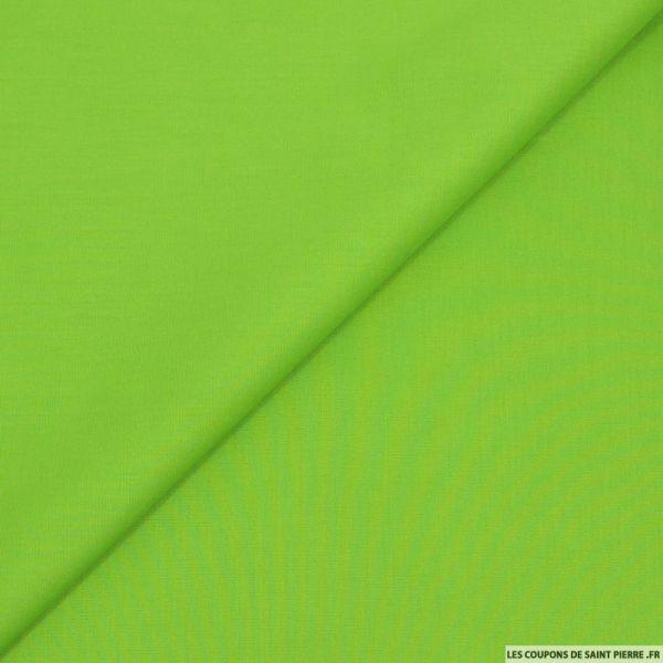 Popeline de coton vert pomme