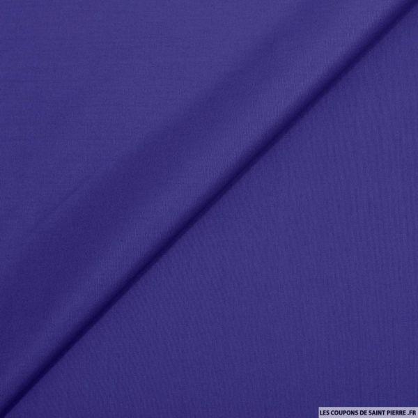 Popeline de coton bleu roi