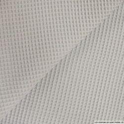 Coton nid d'abeille gris clair