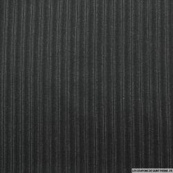 Lainage tailleur double rayures gris foncé