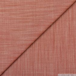 Chambray polyviscose rouge chiné