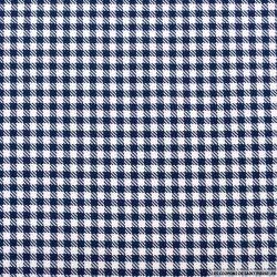 Jacquard polyester vichy 5mm bleu