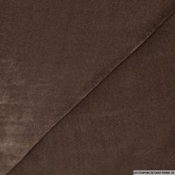 Velours de soie marron glacé