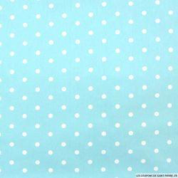 Coton imprimé pois 7 mm fond ciel