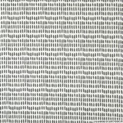 Coton imprimé pointillé gris fond blanc