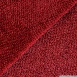 Tissu éponge bambou rouge grenat vendu au mètre