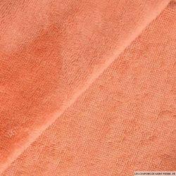 Tissu éponge bambou saumon vendu au mètre