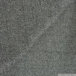 100% Laine chevron gris et noir