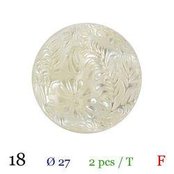Tube 2 boutons blanc Ø 27mm